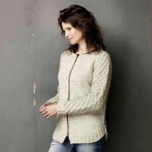Strikket trøje med lynlås - opskrift