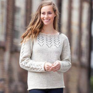 Opskrift på sweater med hulmønster