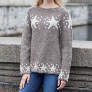 Strikket stjernesweater - billig opskrift