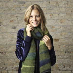 Opskrift på strikket halstørklæde
