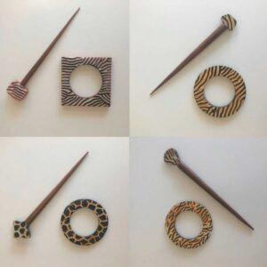 4 forskellige sæt sjalsnåle