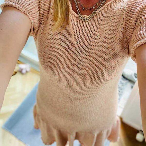 Strik en kjole i bomuldsgarn