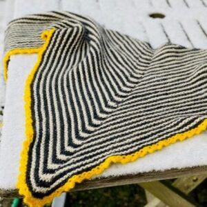Opskrift på strikket sjal