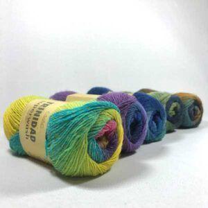 Farbverlauf Sockenwolle mit langen Farbwechseln